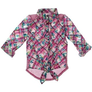 Beautees Girls Floral Print Blouse - M