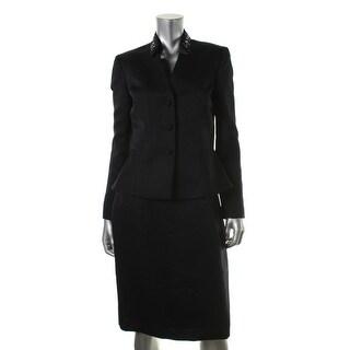 Tahari ASL Womens Roger Embellished 2PC Skirt Suit - 14
