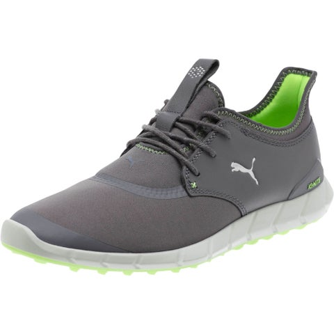 Puma Men's Ignite Spikeless Sport Smoked Pearl/White/Green Gecko Golf Shoes 189416-05