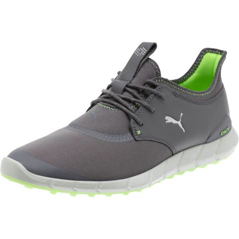 1afe13680ce Puma Men s Ignite Spikeless Sport Smoked Pearl White Green Gecko Golf Shoes  189416-