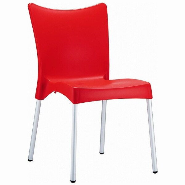 Juliette Resin Dining Chair - Set of 2 (Red) - Red
