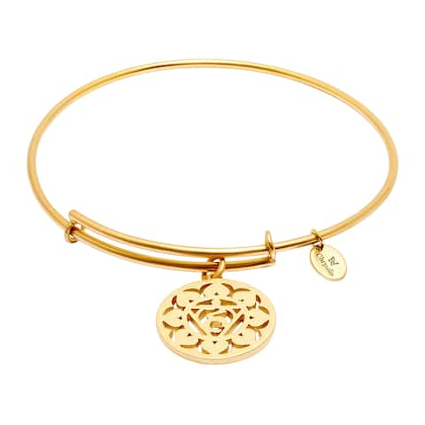 Chrysalis 'Throat' Expandable Bangle Bracelet in 14K Gold-Plated Brass - Yellow