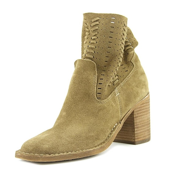 Dolce Vita Cludia Women Round Toe Suede Brown Ankle Boot