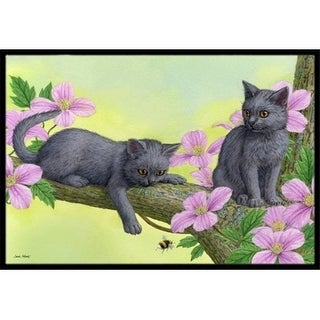 Carolines Treasures ASA2211JMAT Chartruex Kittens Indoor or Outdoor Mat 24 x 36
