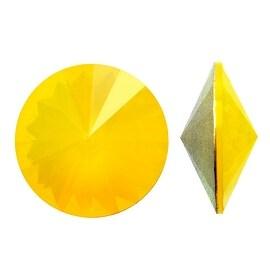 Swarovski Elements Crystal, 1122 Rivoli Fancy Stones 12mm, 4 Pieces, Yellow Opal