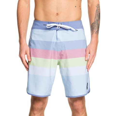 Quiksilver Mens Mid Length Striped Board Shorts