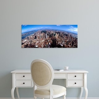 Easy Art Prints Panoramic Images's 'Skyscrapers in a city, Manhattan, New York City, New York State, USA' Canvas Art