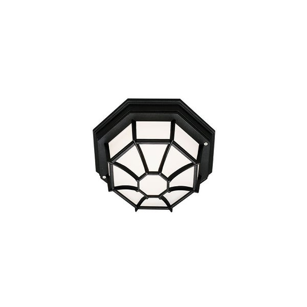 Trans Globe Lighting 40581 1-Light Down Lighting Flush Mount Ceiling Fixture from the Outdoor Collection