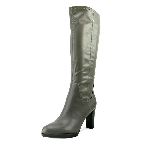 Franco Sarto Ilana Women Round Toe Synthetic Gray Knee High Boot