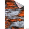"Orange Allstar Modern. Contemporary Woven Rug. Drop-Stitch Weave Technique. Carved Effect. Vivid Pop Colors (7' 10"" x 10') - Thumbnail 1"