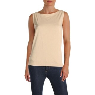 Ralph Lauren Womens Casual Top Sleeveless Side Stripe