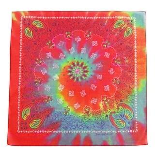 CTM® Tie Dye Paisley Print Bandana - One size