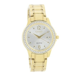 Link to Citizen Women's FE1172-55Q 'Eco-Drive' Gold-Tone Stainless Steel Watch - Silver Similar Items in Women's Watches