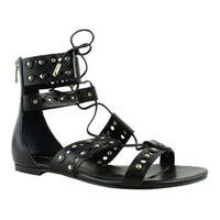 Ivanka Trump Womens Itcathy Black Gladiator Sandals Size 6