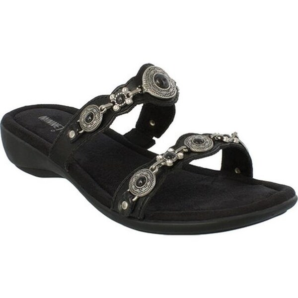 825a385ae789b Shop Minnetonka Women's Boca Slide III Black Leather - Free Shipping ...