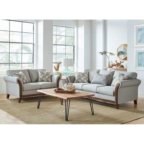 Roxanne Platinum 2-piece Flared Arm Living Room Set