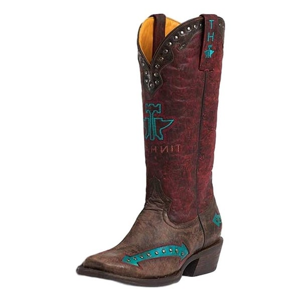 Tin Haul Western Boots Womens Arrow Vintage Brown