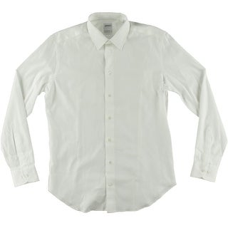 Armani Collezioni Mens 245.00 Slim Fit Solid Dress Shirt