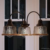 "Luxury Vintage Chandelier, 14.75""H x 20""W, with Industrial Chic Style, Olde Bronze Finish by Urban Ambiance"