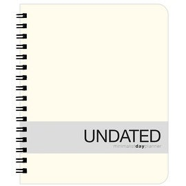 Action Publishing Undated Minimalist Day Planner