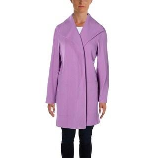 Lauren Ralph Lauren Womens Baziana Long Coat Wool Open Front