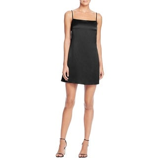French Connection Womens Slip Dress Satin Spaghetti Strap