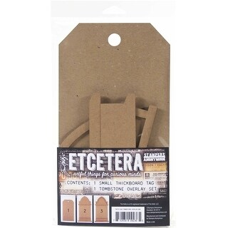 Tim Holtz Etcetera Tombstone Overlay-Small