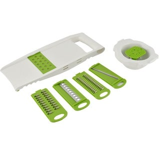 Household Kitchen Plastic Vegetable Fruit Slice Grater Peeler Cutter 5 in 1