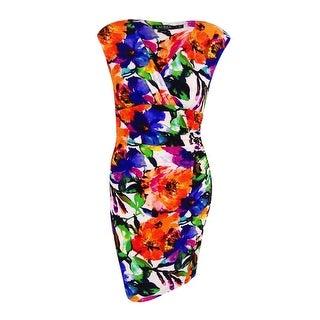 Lauren Ralph Lauren Women's Ruched Jersey Dress