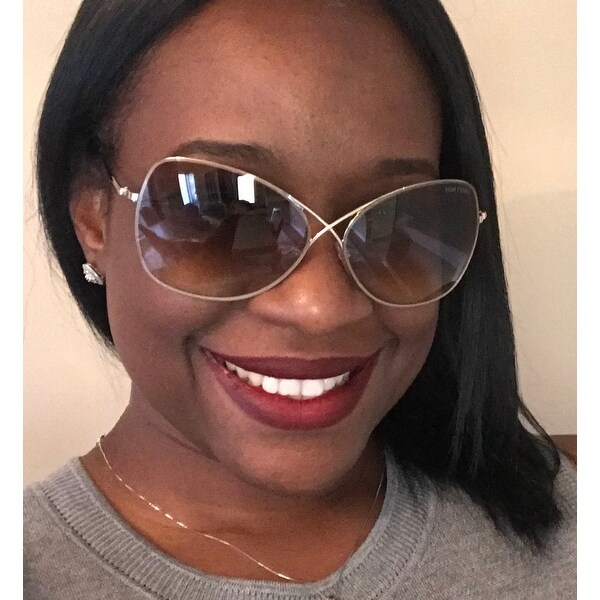 bf0c68c871 Shop Tom Ford TF250 Colette 28F Women s Rose Gold Brown Gradient Lens  Sunglasses - Free Shipping Today - Overstock - 18221862