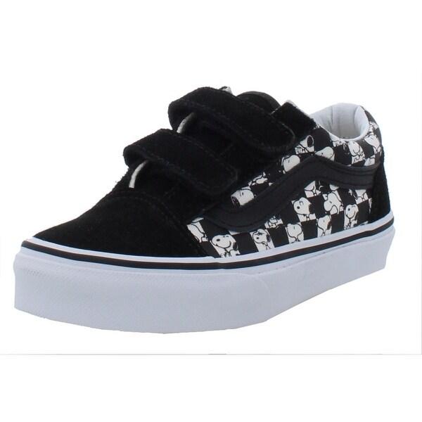 Shop Vans Boys Old Skool V Fashion Sneakers Little Kid Suede