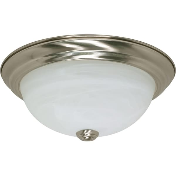 "Nuvo Lighting 60/197 2 Light 11-3/8"" Wide Flush Mount Bowl Ceiling Fixture - Brushed nickel"