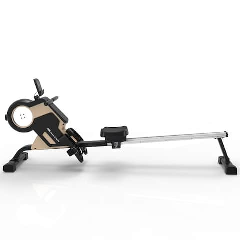 Magnetic Rowing Machine Compact Rower with Magnetic Tension System,LED Monitor,8-level Resistance Adjustment Fitness Equipment
