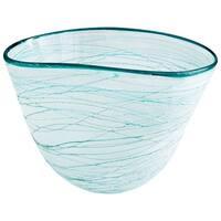 Cyan Design Large Swirly Bowl Swirly 10.5 Inch Wide Glass Decorative Bowl - n/a