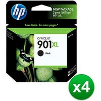 HP 901XL High Yield Black Original Ink Cartridge (CC654AN)(4-Pack)