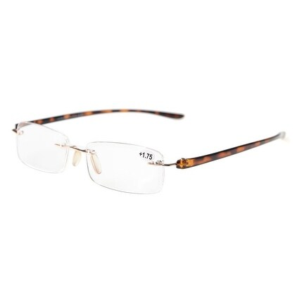 956f1af364a Shop Eyekepper Readers Small Lenes Rimless Reading Glasses Tortoise Arm + 2.75 - Free Shipping On Orders Over  45 - Overstock.com - 15194036