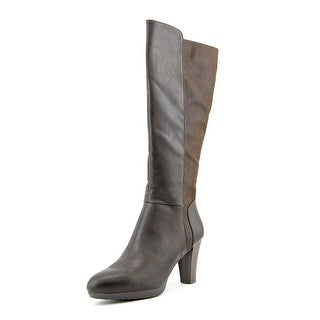 White Mountain Trivia Round Toe Synthetic Knee High Boot