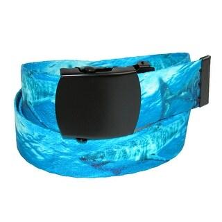 CTM® Boys' Fabric Shark Belt - Blue - One Size