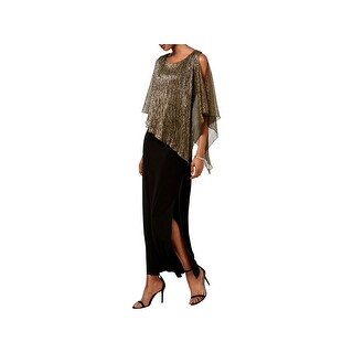 Connected Apparel Womens Special Occasion Dress Metallic Popover