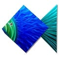 Statements2000 Large Blue / Green Tropical Fish Metal Wall Art Accent by Jon Allen - Big Blue Fish - Thumbnail 0