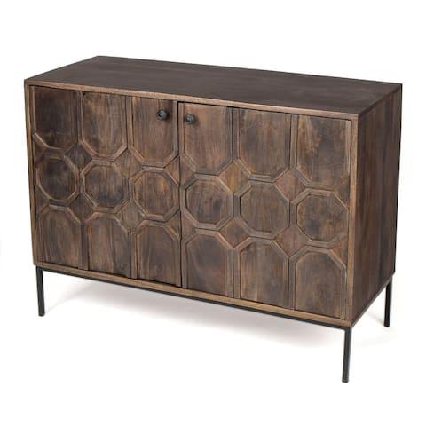 Rothwell Cabinet Solid Wood 2 Door Cabinet - 36 x 16 x 30