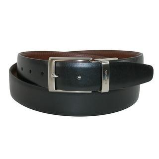 Nautica Men's Big & Tall Reversible Belt - black to tan