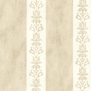 "Brewster 672-20079-SAM  8""x 10"" Sample of 672-20079 - Beige Damask Stripe"