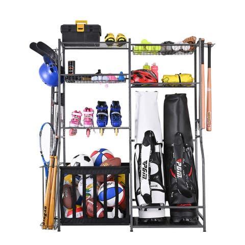Mythinglogic Sports Equipment Garage Organizer and Golf Storage Garage Organizer