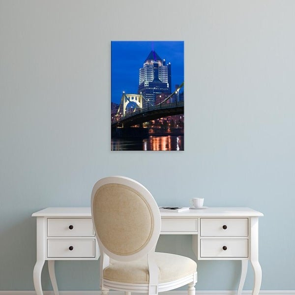Easy Art Prints Walter Bibikow's 'Pittsburgh: Downtown View from Allegheny Landing by 6th Street Bridge' Canvas Art