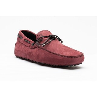 Tod's Men's Suede Lacceto My Colors New Gommini Loafer Shoes Red