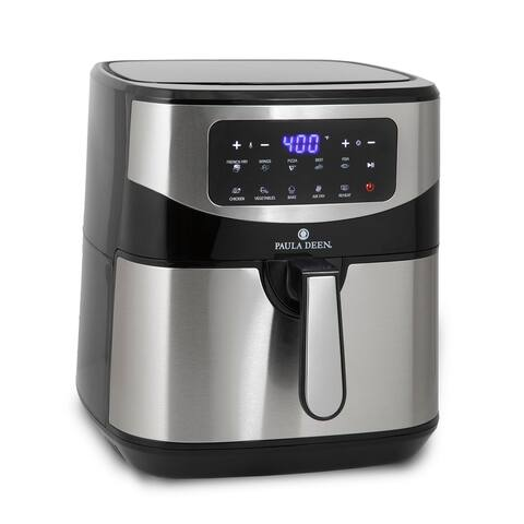 Paula Deen Stainless Steel 10 QT Digital Air Fryer (1700 Watts), LED Display, 10 Preset Cooking Functions
