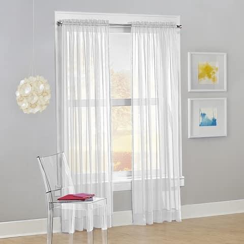 No. 918 Calypso Voile Sheer Rod Pocket Curtain Panel