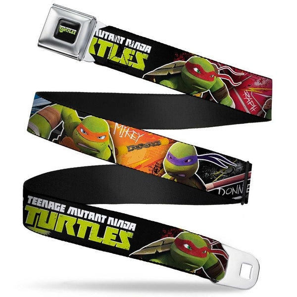 New Series Teenage Mutant Ninja Turtles Logo Full Color Teenage Mutant Seatbelt Belt