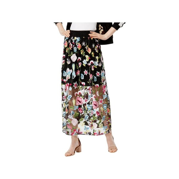 77d6ebb0e13f Shop Cynthia Rowley Womens Maxi Skirt Floral Print Embroidered - Free  Shipping On Orders Over $45 - Overstock - 22513503
